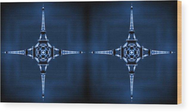 Modern Art Wood Print featuring the photograph Eiffel Art 35a by Mike McGlothlen