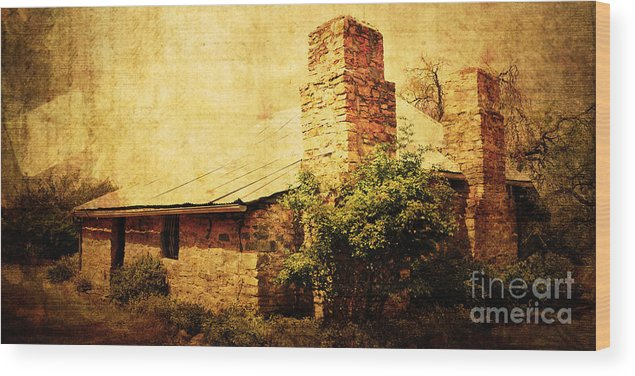 Vintage Wood Print featuring the photograph Faded Building by Phill Petrovic