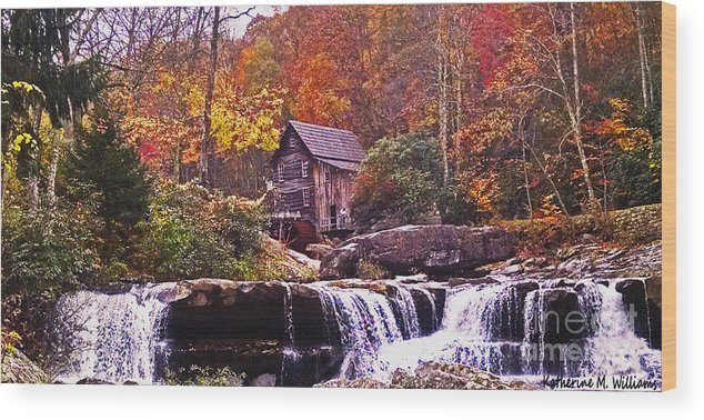 Babcock Wood Print featuring the photograph Babcock State Park by Katherine Williams