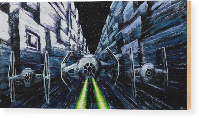 Star Wars Wood Print featuring the painting I Have You Now by Marlon Huynh