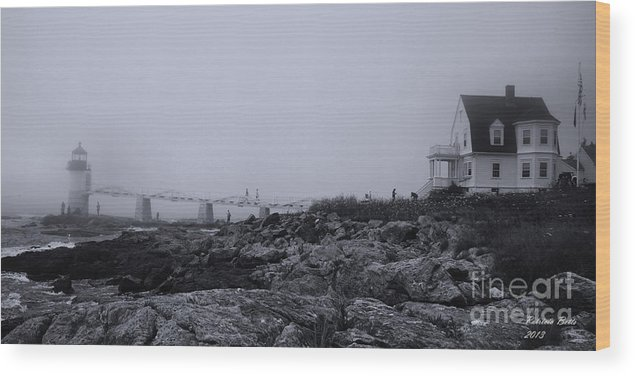 Marshall Wood Print featuring the photograph Marshall Point Lighthouse by Patricia Betts