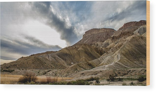 Colorado Wood Print featuring the photograph Mt. Garfield - Special Edition by Jeff Stoddart