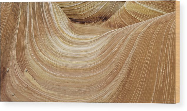 Sandstone Lines Wood Print featuring the photograph Sandstone Lines by Chad Dutson