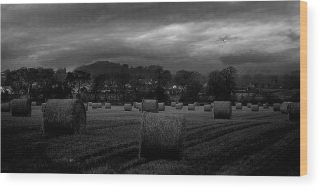 Scottish Wood Print featuring the photograph Scottish Landscape by John Bailey