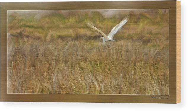 Art Photography Wood Print featuring the photograph Flying Home by Blake Richards