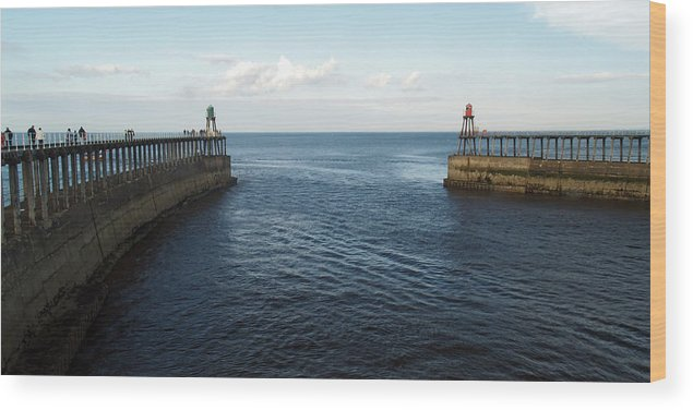 River Wood Print featuring the photograph North Sea by Steve Watson