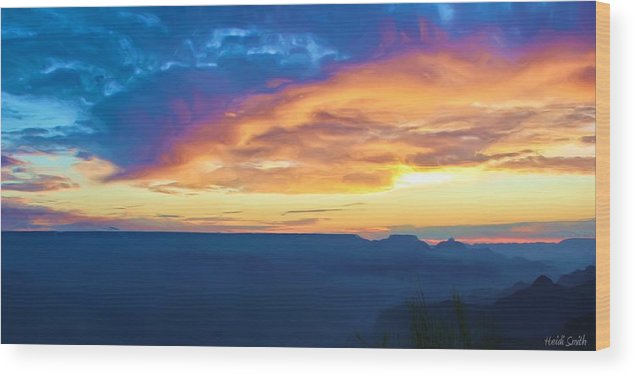 Grand Canyon Wood Print featuring the photograph Here Comes The Sun by Heidi Smith