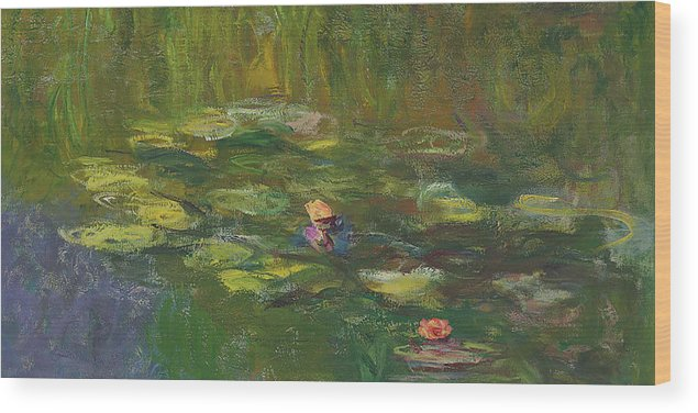 Claude Monet Wood Print featuring the painting The Water Lily Pond by Claude Monet