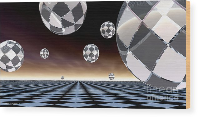 Bryce Wood Print featuring the digital art A Checkered Past by Sandra Bauser Digital Art