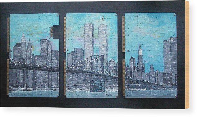 New York City Wood Print featuring the painting Always by Cary Singewald