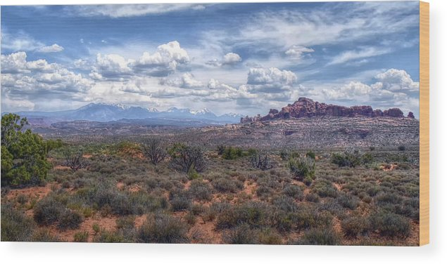 Arches Wood Print featuring the photograph Arches Landscape by Joseph Rainey