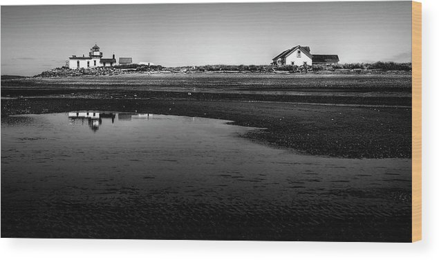 Discovery Park Wood Print featuring the photograph Discovery Park Beach by David Patterson