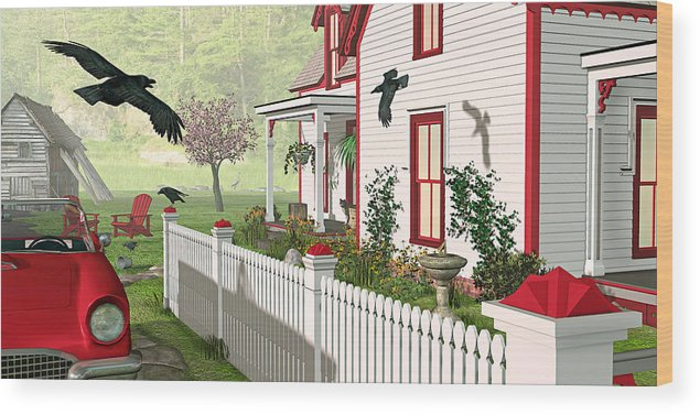 Victorian House Wood Print featuring the photograph Downeast Morning by Peter J Sucy