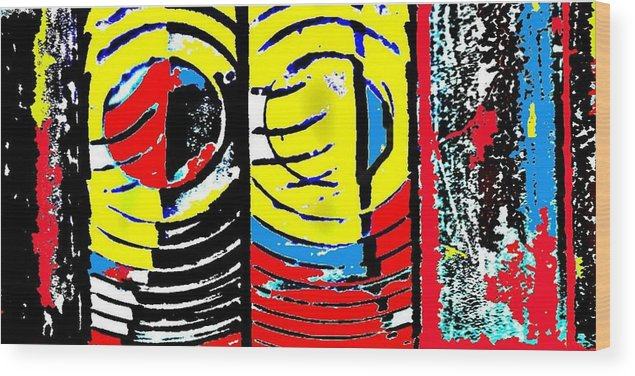 Abstract Wood Print featuring the photograph Eye Of The Lighthouse by Paul Freidin