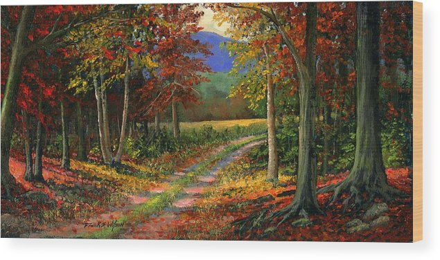 Landscape Wood Print featuring the painting Forgotten Road by Frank Wilson