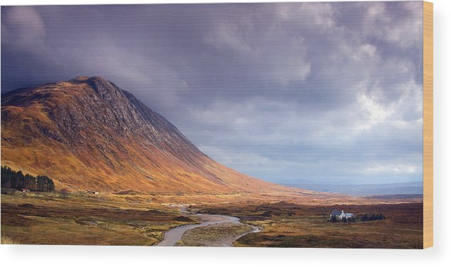 Scotland Wood Print featuring the photograph Gathering Storm Glencoe by John McKinlay