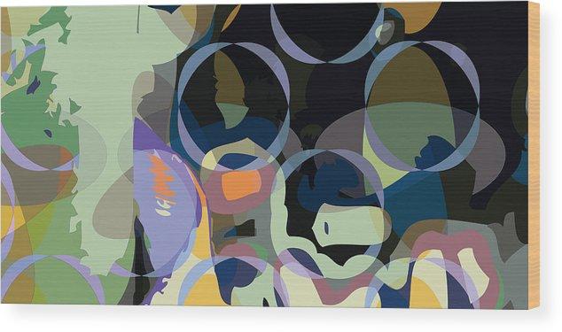Abstract Wood Print featuring the digital art Greg1 by Scott Davis