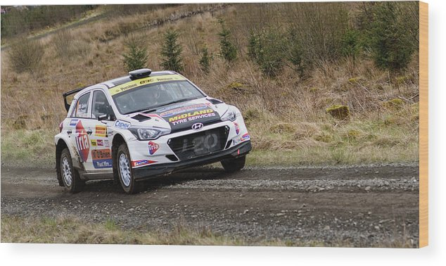 Pirelli Wood Print featuring the photograph Hyundai I20 by Allie Conway