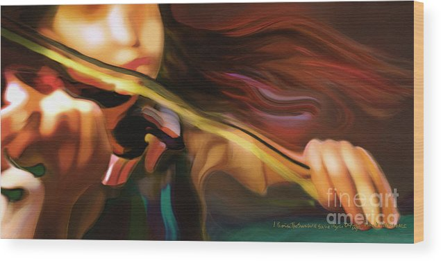 Girl Wood Print featuring the painting I Promise The Sun Will Shine Again by Mike Massengale