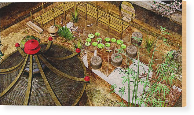 Garden Wood Print featuring the photograph Japanese Garden by Peter J Sucy