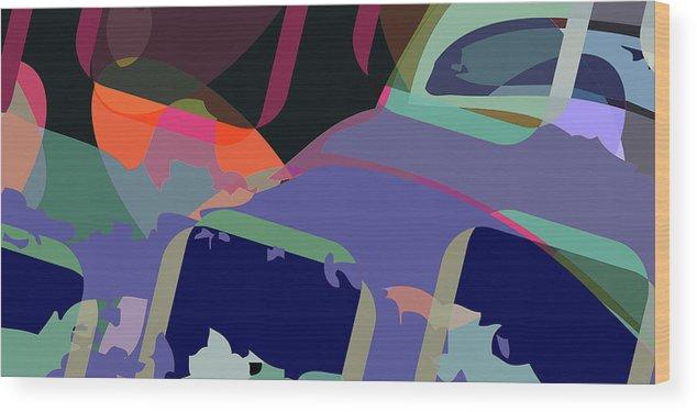Abstract Wood Print featuring the digital art Jim 6 by Scott Davis