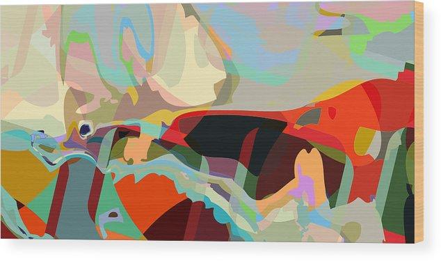 Abstract Wood Print featuring the digital art Jim 8 by Scott Davis
