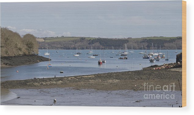 Water Wood Print featuring the photograph Mylor Panorama by Terri Waters