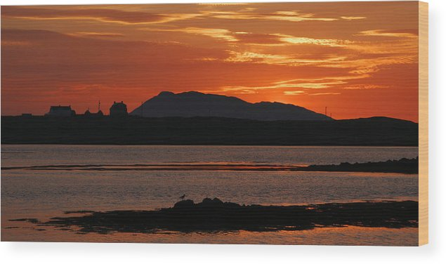 Scotland Wood Print featuring the photograph North Uist At Sunrise by John McKinlay
