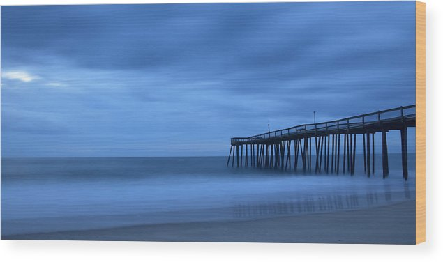 Ocean Wood Print featuring the photograph Ocean City Pier 2 by Don Keisling