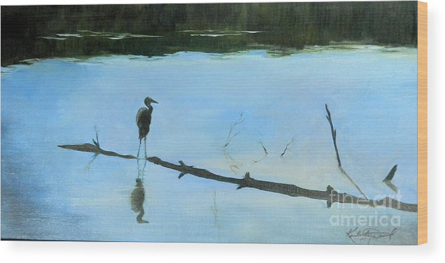 Tennessee Wood Print featuring the painting Out Of The Darkness by Kimberly Daniel
