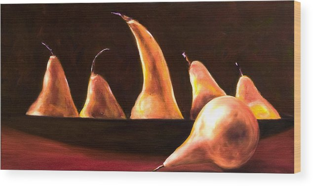 Still Life Wood Print featuring the painting Overboard by Shannon Grissom