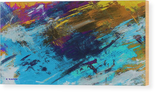 Abstract Wood Print featuring the painting Penumbra by Charles Yates