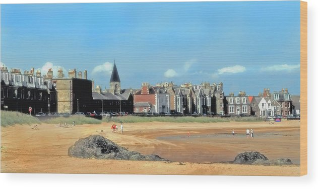 Quaint Wood Print featuring the photograph Picturesque North Berwick Scotland by Lyle Huisken