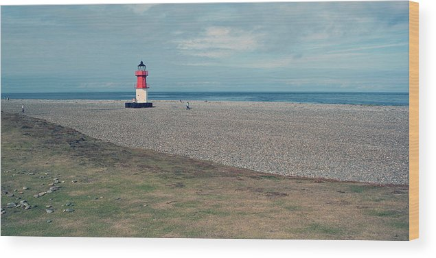 Lighthouse Wood Print featuring the photograph Point Of Ayre by Steve Watson