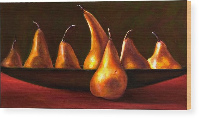 Still Life Wood Print featuring the painting Port Au Pear by Shannon Grissom