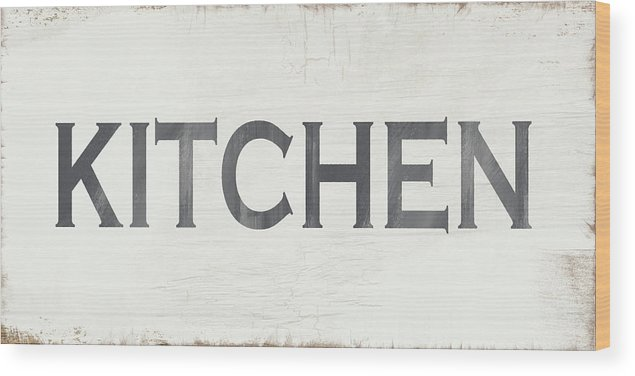 Rustic Kitchen Sign Art By Linda Woods Wood Print By Linda Woods