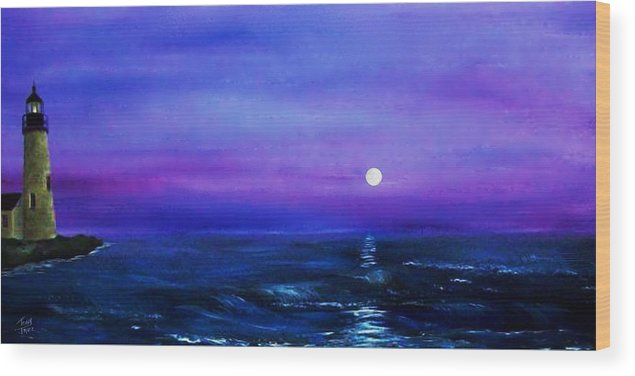 Seascape Wood Print featuring the painting Seascape II by Tony Rodriguez