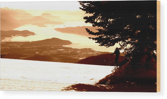 Ski Wood Print featuring the photograph Spring Skiing by Robert Bissett