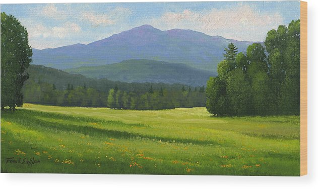Landscape Wood Print featuring the painting Spring Vista by Frank Wilson