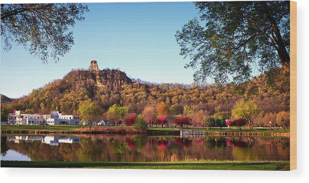 Sugarloaf Wood Print featuring the photograph Sugarloaf Reflection by Al Mueller