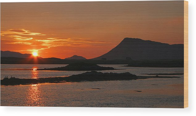 Scotland Wood Print featuring the photograph Sunrise North Uist by John McKinlay