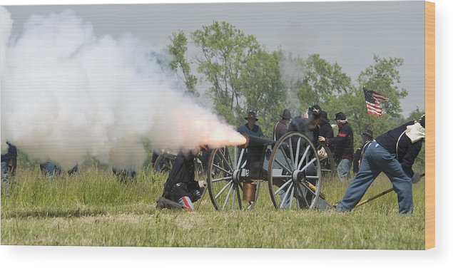 Battle Wood Print featuring the photograph The Battle by Chad Davis