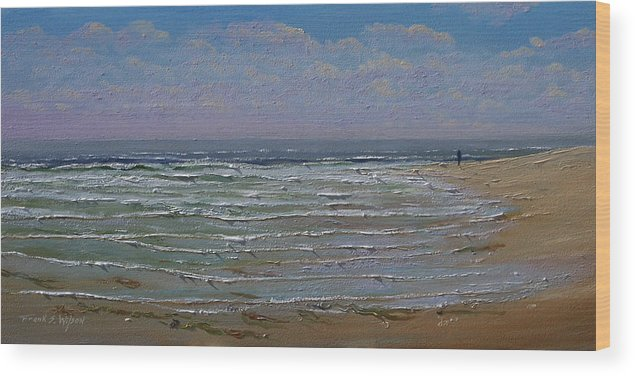 Seascape Wood Print featuring the painting The Beachcomber by Frank Wilson