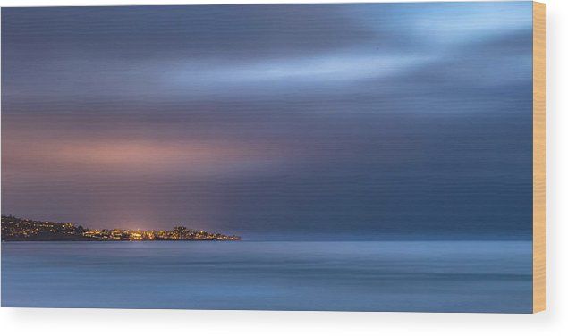 Beach Wood Print featuring the photograph The Blue Jewel - La Jolla by Peter Tellone