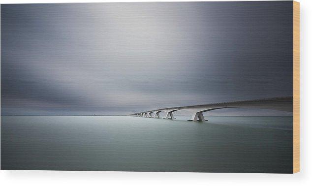 Landscape Wood Print featuring the photograph The Infinite Bridge by Arthur Van Orden