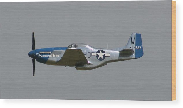 Airplane Wood Print featuring the photograph Wafb 09 P51 Mustang 1 - Darling Of The Sky by David Dunham
