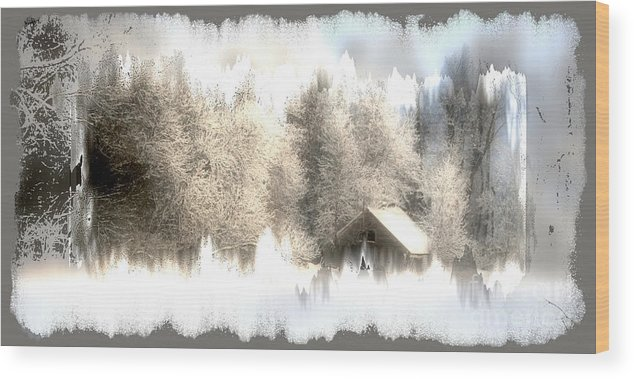 Winter Wood Print featuring the photograph Winter by Julie Lueders