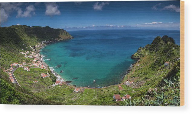 Azores Wood Print featuring the photograph Portugal, Azores, Santa Maria Island by Walter Bibikow