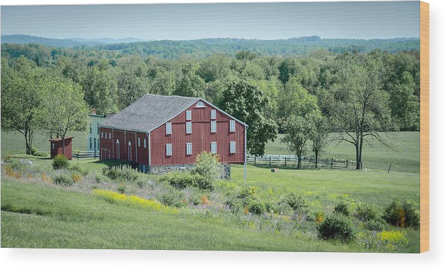 American Civil War Wood Print featuring the photograph Bilgerville Road Farm 7d02271 by Guy Whiteley