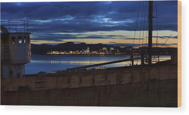 Blue Wood Print featuring the photograph Nostalgia Or Industry by Finn Olav Olsen